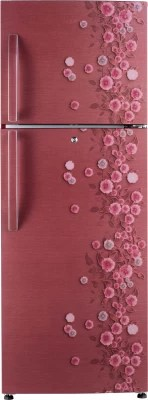 Haier 310 L Frost Free Double Door Refrigerator(HRF-3303PRL-H, Red Liana)