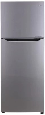 LG 255 L Frost Free Double Door Refrigerator(GL-Q282SPZL, Shiny Steel, 2016)