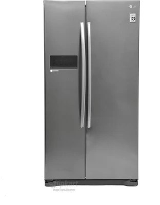 LG 581 L Frost Free Side by Side Refrigerator(GC-B207GLQV(PV,PZ), Platinum Silver3)
