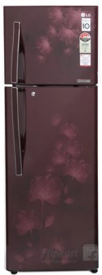 LG 308 L Frost Free Double Door Refrigerator(GL-I322RSFL, Scarlet Florid, 2016)