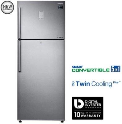 SAMSUNG 465 L Frost Free Double Door Refrigerator(RT47K6358SL, EZ Clean Steel, 2016)