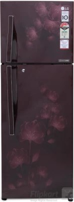 LG 284 L Frost Free Double Door Refrigerator(GL-I302RSFL, Scarlet Florid, 2016)