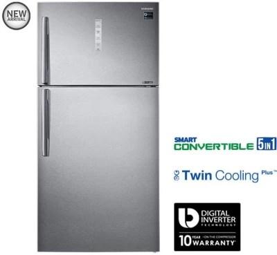 SAMSUNG 637 L Frost Free Double Door Refrigerator(RT61K7058SL/TL, Grey/EZ Clean Steel/VCM, 2016)
