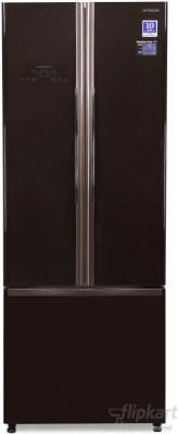 Hitachi 456 L Frost Free French Door Bottom Mount Refrigerator(R-WB480PND2, Glass Brown)