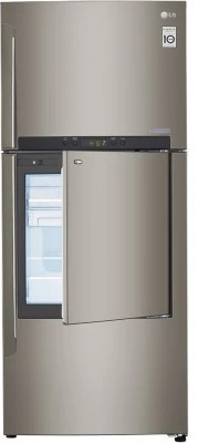 LG 426 L Frost Free Side by Side Refrigerator(GC-D432HLAM, Shiny Steel)