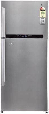 LG 511 L Frost Free Double Door Refrigerator(GN-M602HLHM, Shiny Steel/Platinum Silver-3, 2016)