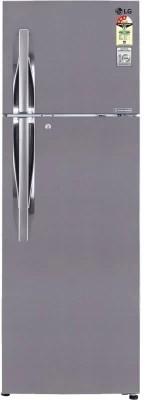 LG 285 L Frost Free Double Door Refrigerator(GL-M302RPZL, Shiny Steel)