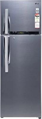 LG 335 L Frost Free Double Door Refrigerator(GL-D372RSHM, Nobel Steel)