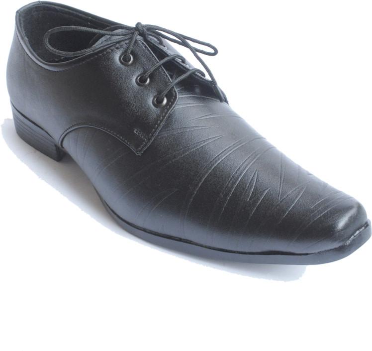 PFC 6019blk Lace Up Shoes(Black)