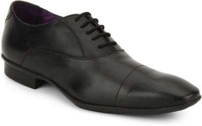 Knotty Derby Arthur Toe Stitch Oxford Lace Up Shoes(Black)