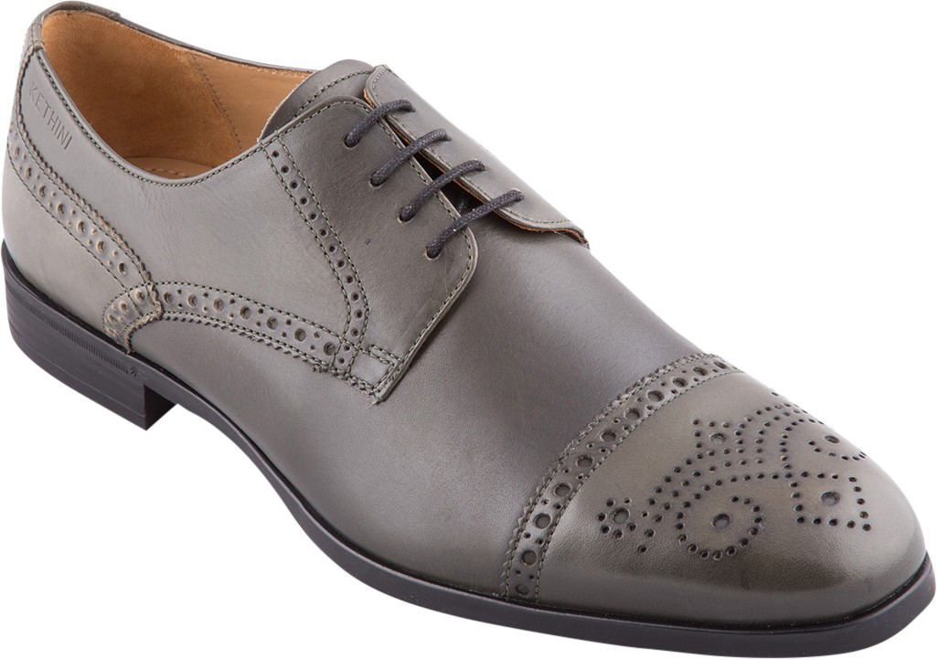 Kethini 1144 - Mens Techie Party Wear Shoes(Grey)