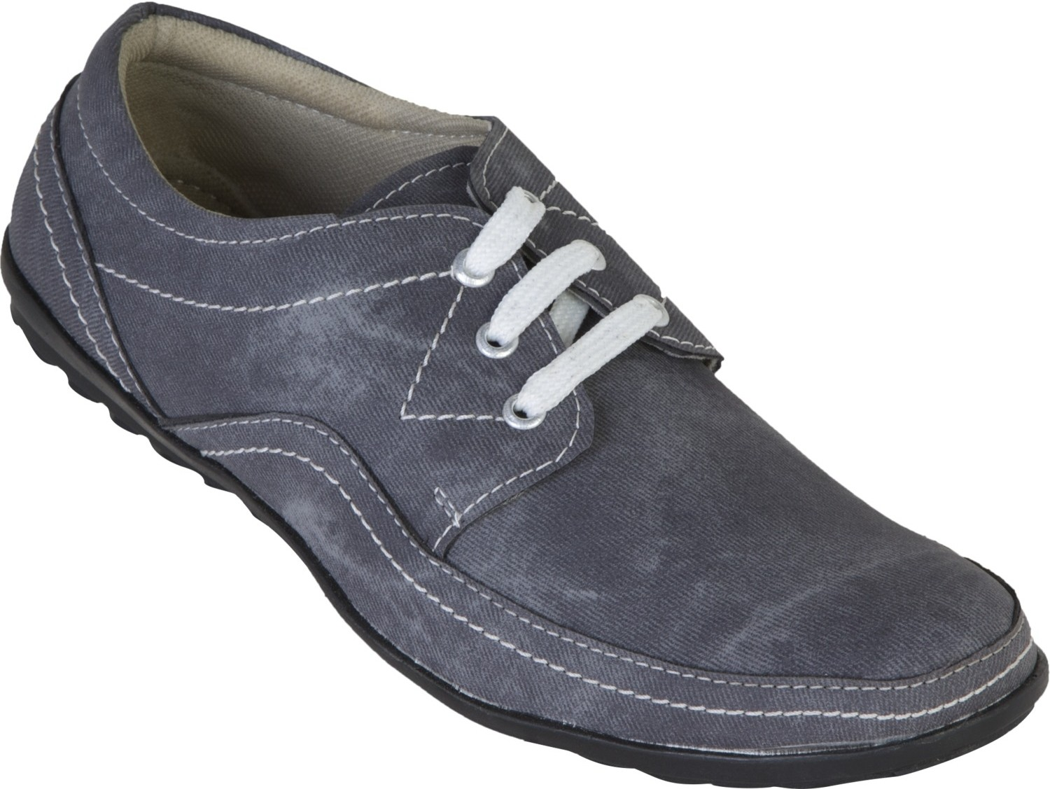 Zovi Grey Casual with White Lacing Sneakers(Grey)