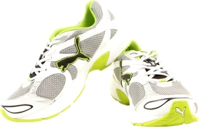 Puma Axis II Ind Running Shoes(White, Green)
