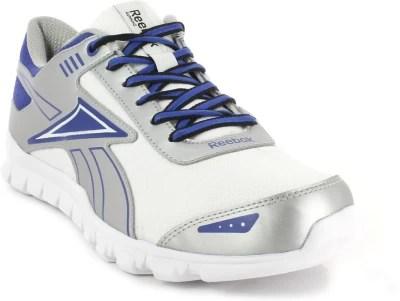 Reebok Fiery Run 2.0 Lp Running Shoes(Silver, Blue, White)