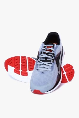 Puma Faas 500 V4 Quarry-Black-High Risk Red Running Shoes(Grey)