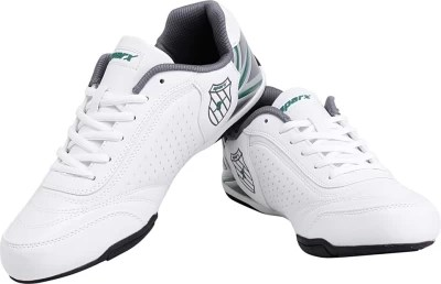 Sparx Trendy White Green Running Shoes(White)