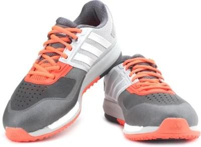 Adidas Crazytrain Boost Training Shoes(Grey, Orange)
