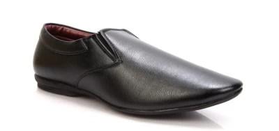 Adam's Heel Men's Slip On Shoes(Black)