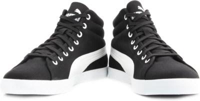 Puma Titan Canvas Mid DP Men Running Shoes(Black)
