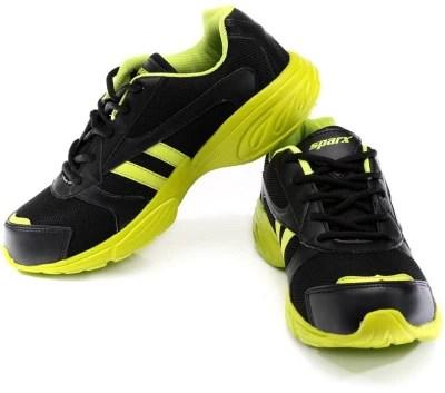 Sparx Revolution Black & Green Running Shoes(Black, Green)