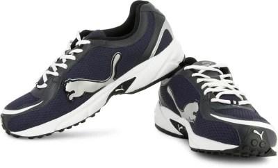 Puma Carlos Men Running Shoes(Navy, White, Silver)