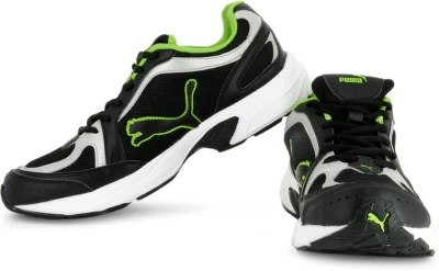 Puma Running Shoes(Green, Black)