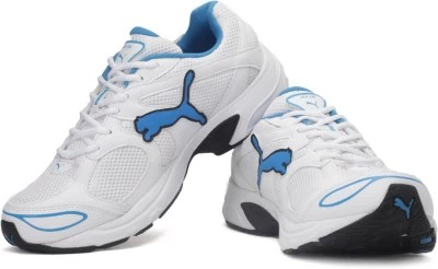 Puma Axis III Ind. Running Shoes(White, Blue)
