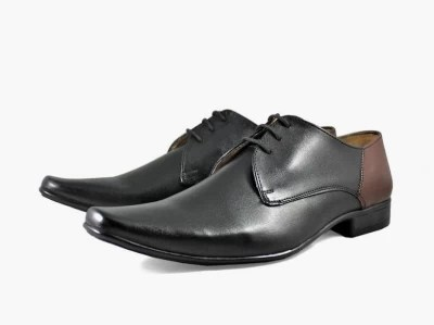 Knotty Derby Severus Two Tone Lace Up Shoes(Brown, Black)
