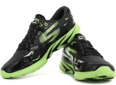 Skechers Go MEB Speed 3 Running Shoes(Black, Green)