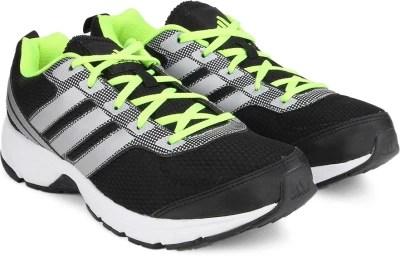 Adidas ADI PACER M Men Running Shoes(Black, Green)