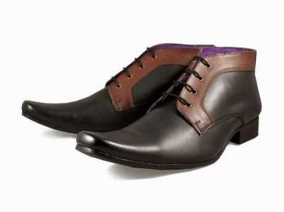 Knotty Derby Ronald Boot Lace Up Shoes(Black)