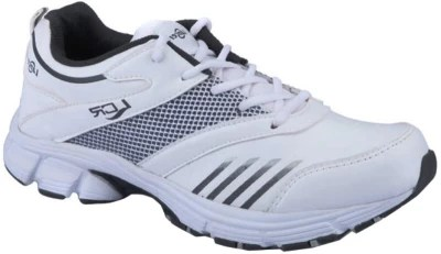Lancer 1026 White And Black Running Shoes(White)