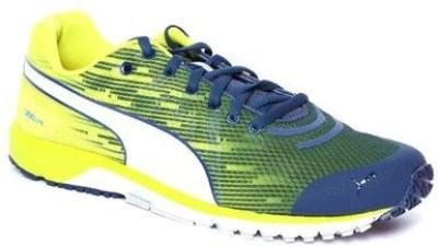 Puma Faas 300 V4 Poseidon-Sulphur Spring-White Running Shoes(Yellow)
