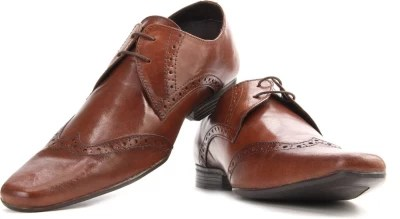 Red Tape Men Genuine Leather Lace Up Shoes(Brown)