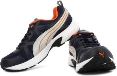 Puma Men Running Shoes(Navy, Silver)