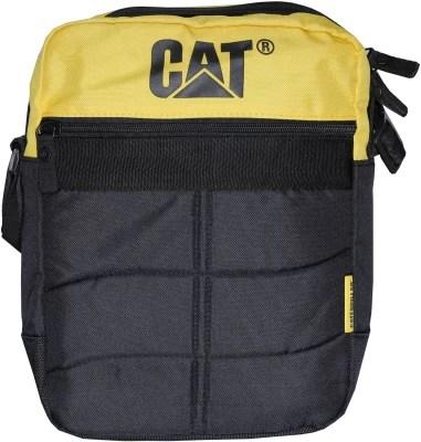 CAT Men & Women Yellow, Black Polyester Sling Bag