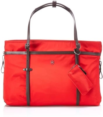 Victorinox Victoria Divine Laptop Boarding Tote With Tablet / eReader Small Travel Bag(Red)