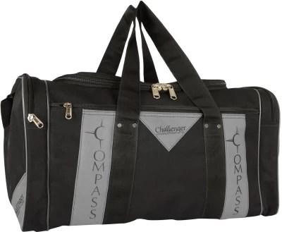Compass Classy Look side pockets (22 inch) Small Travel Bag  - Medium(Black)