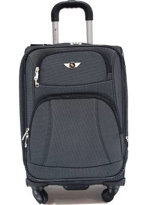 Texas USA 8095s Expandable  Cabin Luggage - 20 inch(Gray)