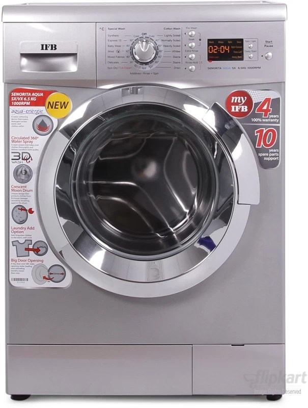 IFB 6.5 kg Fully Automatic Front Load Washing Machine(Senorita Aqua SX - 6.5 KG)