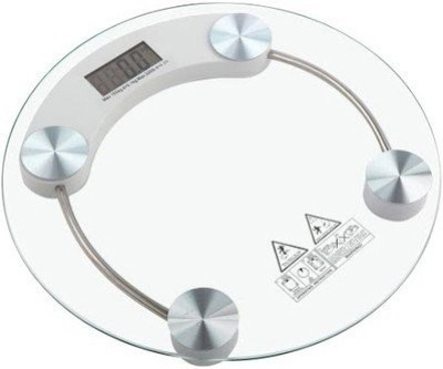 Creative Via Auto shut- Off 8MM Glass Personal Round Weighing Scale(Transparent)