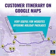 Customer Itinerary On Google Maps