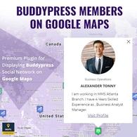 BuddyPress Members On Google Maps