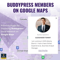 BuddyPress Members On Google Maps