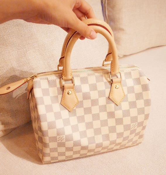 Louis Vuitton-LV-speedy 25-白色棋盤格 N41534-中夾-名片夾-零錢包-monogram-my wedding gift (9)