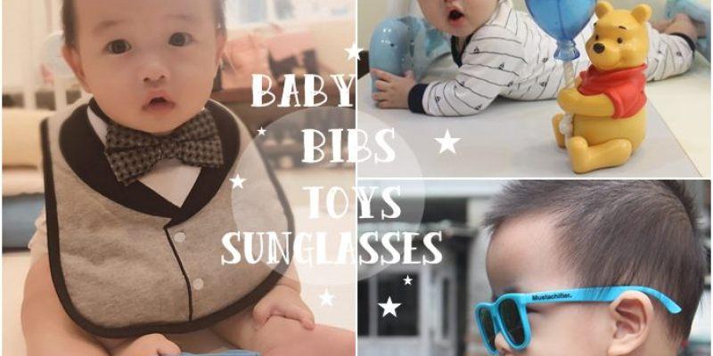 【育兒】男寶寶的拍照配件:美國Frenchie小紳士領帶/領結圍兜兜+Mustachifier嬰兒太陽眼鏡(同場加映維尼星空投影音樂鈴)