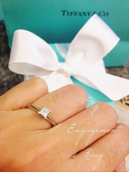 【囍】我的求婚鑽戒-與眾不同的Tiffany公主方鑽&夢幻小藍盒