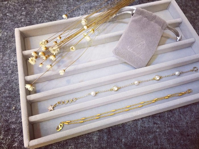 【MUJI無印良品】精品般的飾品收納~壓克力盒用灰絨內盒
