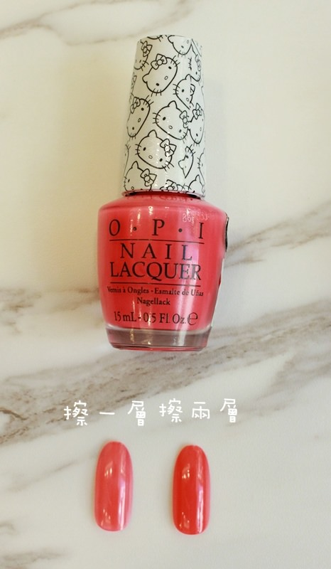 桃紅色指甲油試色-Jill Stuart 45 Love Shower OPI Hellokitty (10)