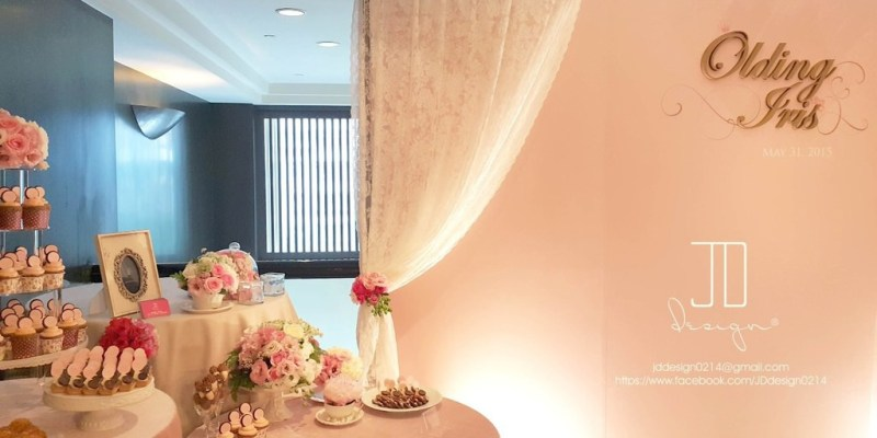 【Wedding】小資新娘的甜美氣質婚禮佈置@JD Design